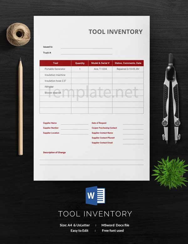 Tool Inventory Template