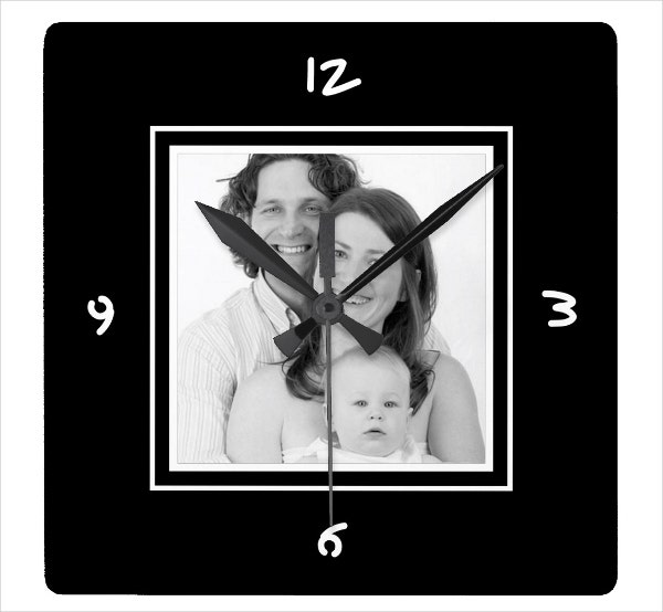 picture-wall-clock-template