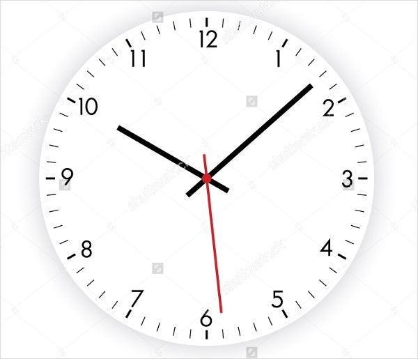 8  wall clock templates