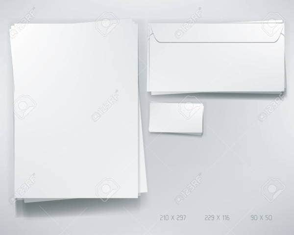 Business Envelope Letterhead Mockup