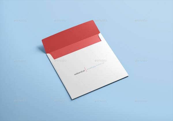 Square Envelope Cover Mockup