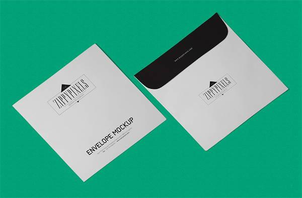 Free PSD Square Envelope Mockup