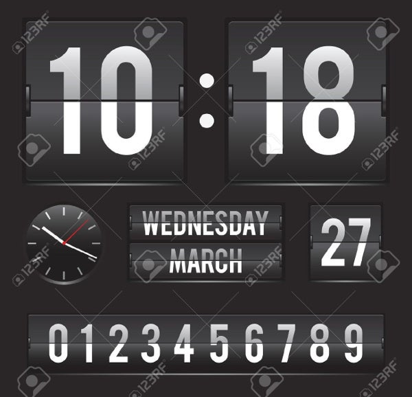 retro-digital-clock-template