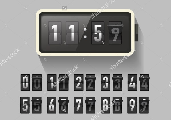 digital-clock-wall-template