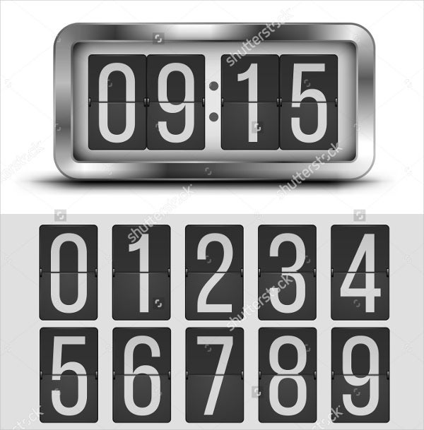 digital-flip-clock-template