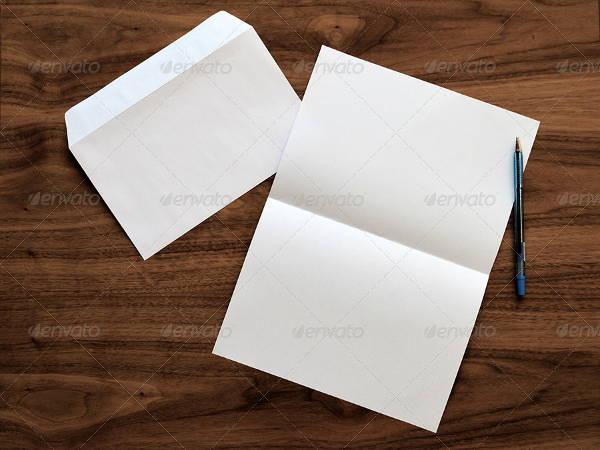 5 blank envelope mock ups psd indesign ai format download