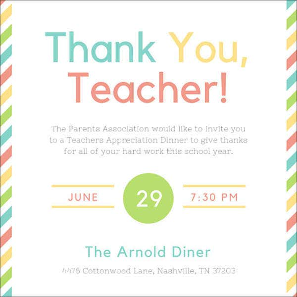 7+ Appreciation Dinner Invitations - Free Sample, Example, Format