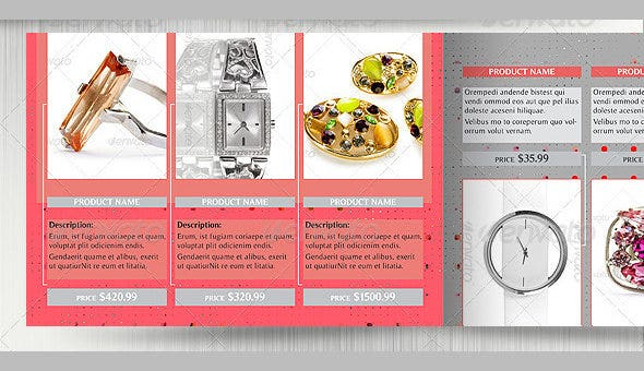 Jewelry Product Catalog Template