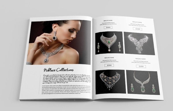 jewelry display catalog template