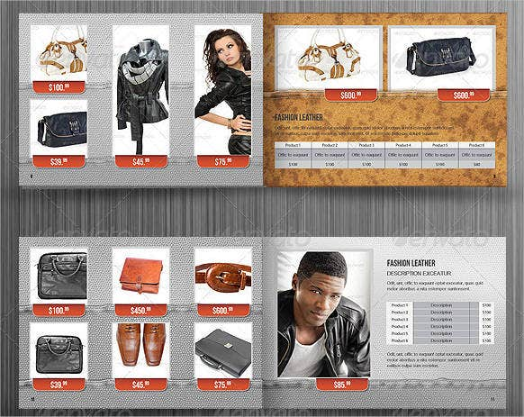 jewelry and clothing catalog template