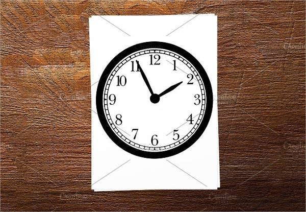 hour-analog-clock-template