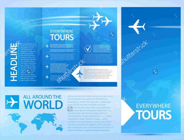 Airline Travel Catalog Template