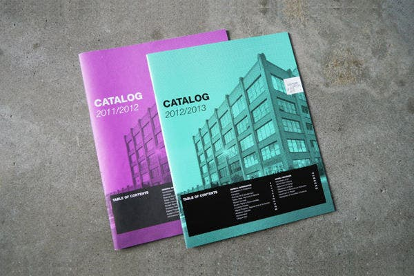 course catalog layout template