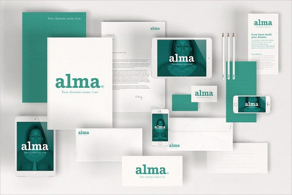 Corporate Stationery Envelope Mockup
