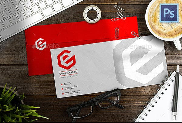 Photorealistic Corporate Envelope Mockup