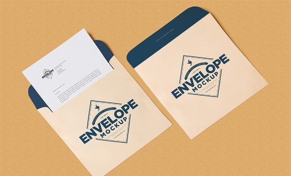 Corporate Envelope Letter Mockup