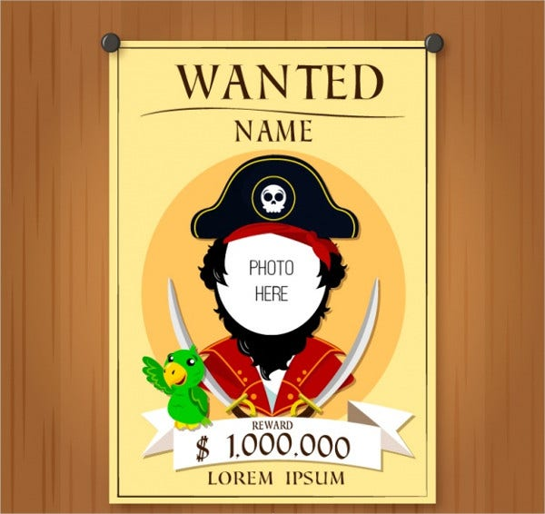 Printable Pirate Wanted Poster