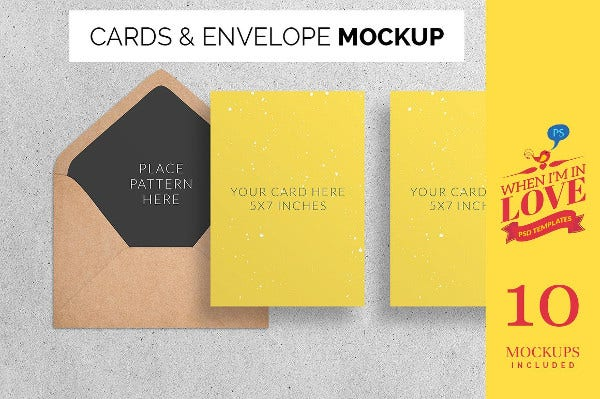 Corporate Postcard Envelope Mockup