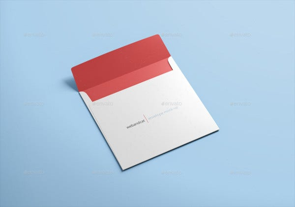 Corporate Square Shaped Envelope Mockup