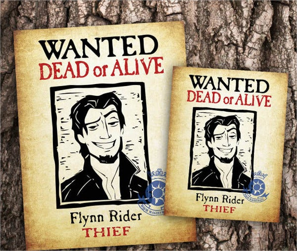 Printable Tangled Wanted Poster