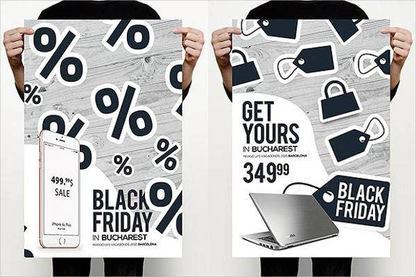 Black Sales Catalog Template