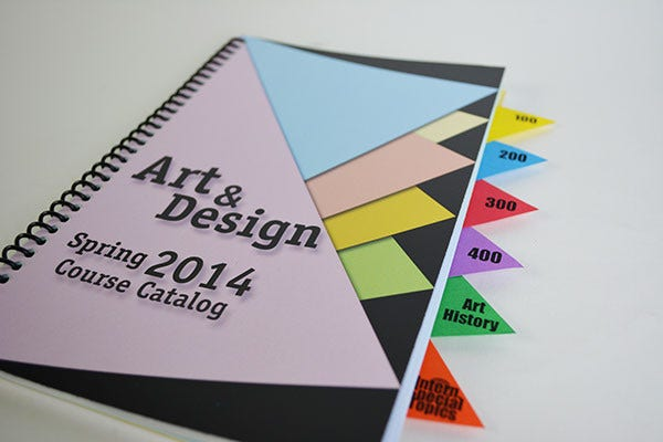 Course Catalog Cover Template