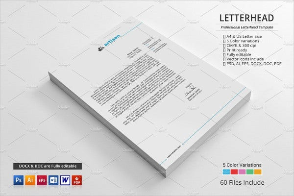 Professional Business Letterhead Templates  Free Word Pdf