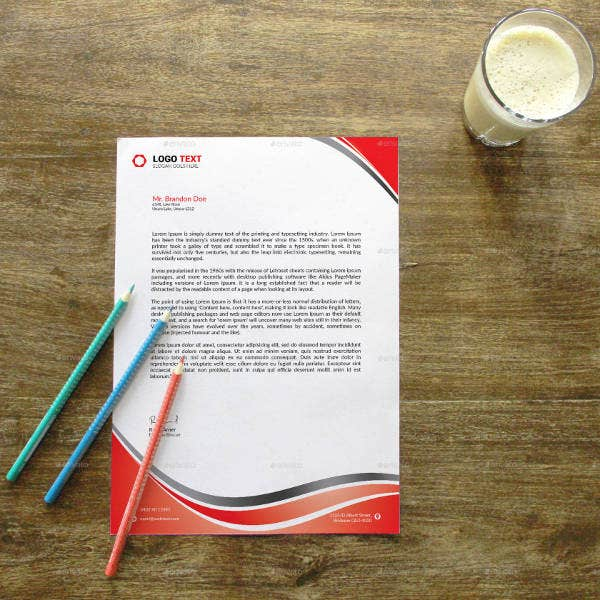 Professional Services Business Letterhead Template