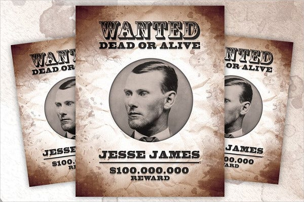 Vintage Printable Wanted Poster