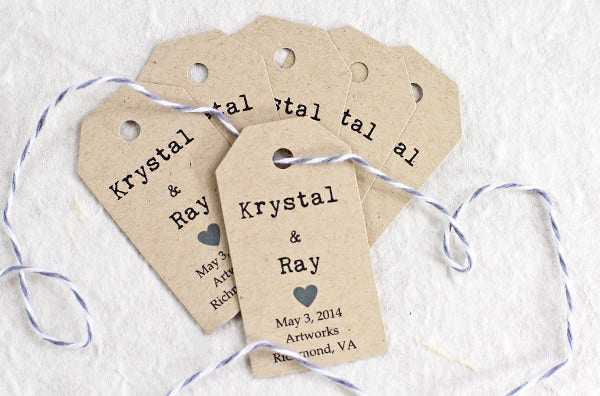Engagement Party Favor Gift Tag