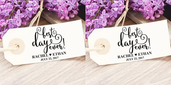 Formal Engagement Gift Tag