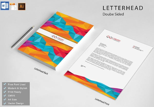Professional Business Letterhead Layout Template