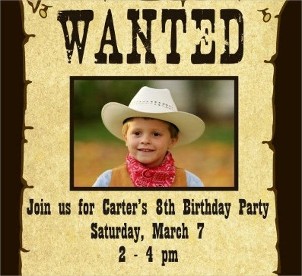 personalized invitation wanted poster