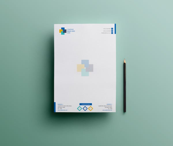 Professional Global Business Letterhead Template