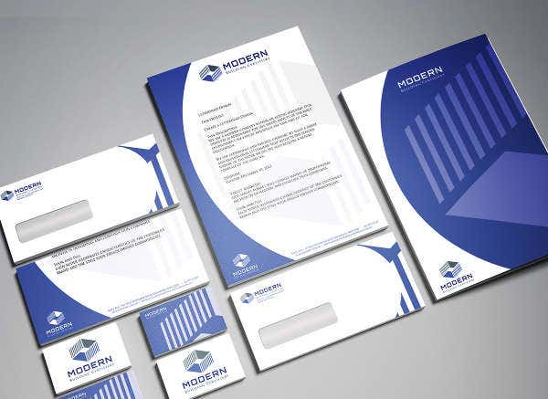 Modern Professional Business Letterhead Design