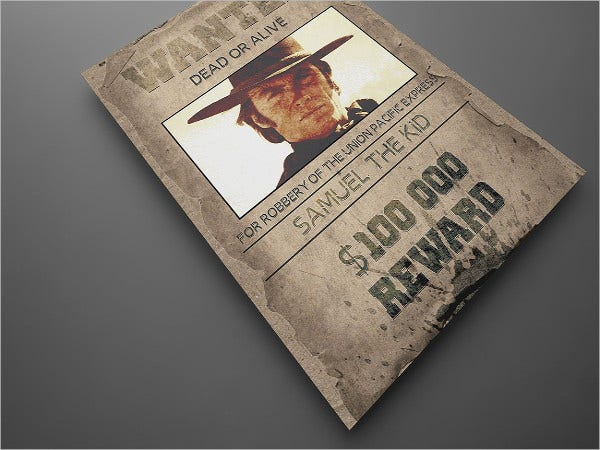cowboy invitation wanted poster