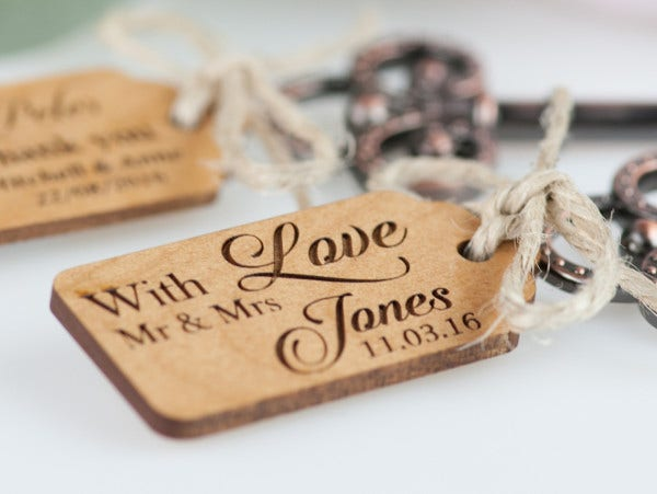 Rustic Engagement Gift Tag