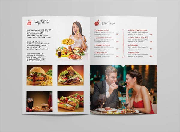 restaurant food catalog template
