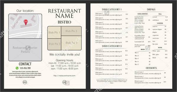 Restaurant Menu Catalog Template