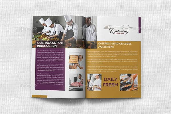 restaurant catering catalog template