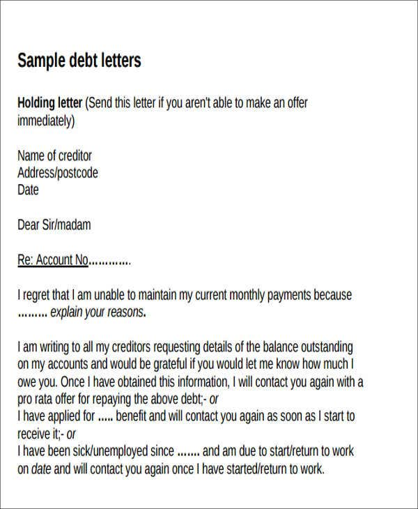 late interest payment letter