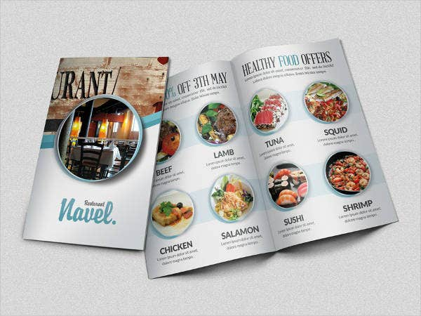 Restaurant Brochure Catalog Template