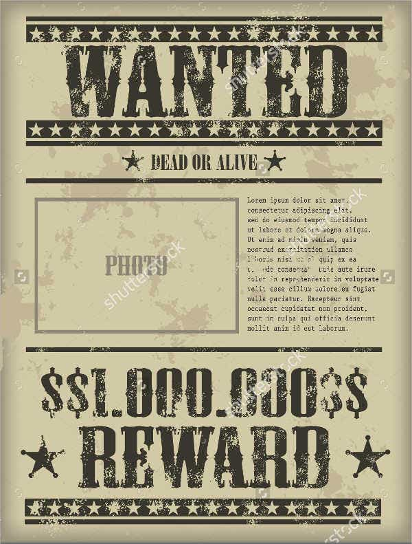 character-profile-wanted-poster