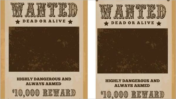 character wanted posters