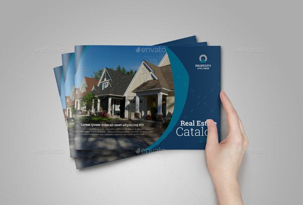 Real Estate Agency Catalog Template