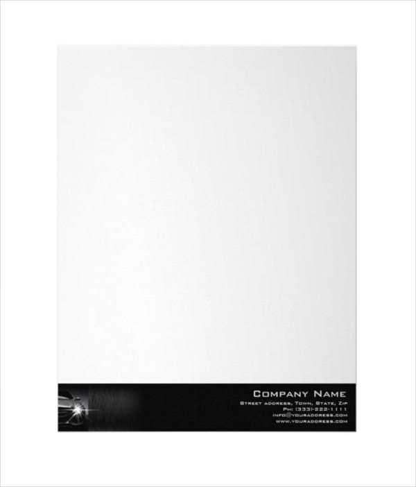 Automotive Business Cover Letterhead Template