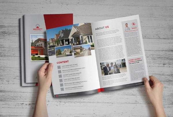 Real Estate Brochure Catalog Template