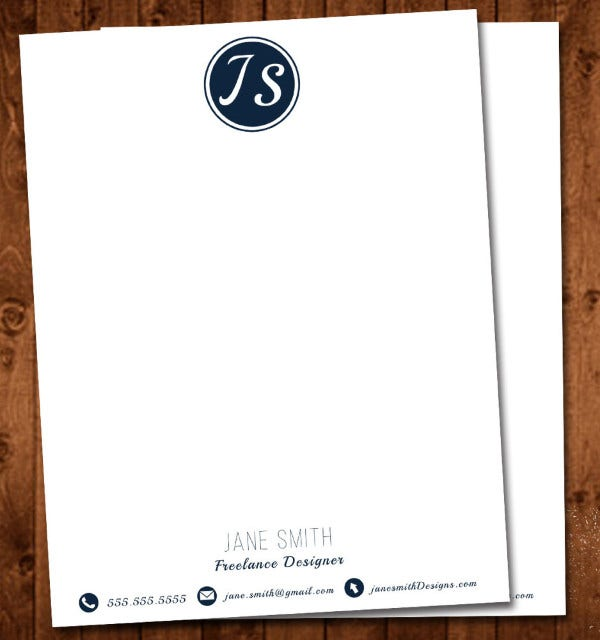 Automotive Business Monogram Letterhead Template