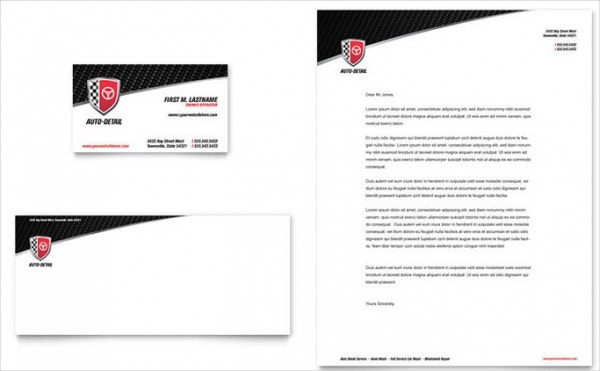 Automotive Business Service Letterhead Template
