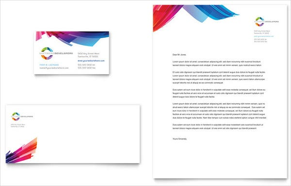Small Business Card Letterhead Template  Business Letterhead Samples